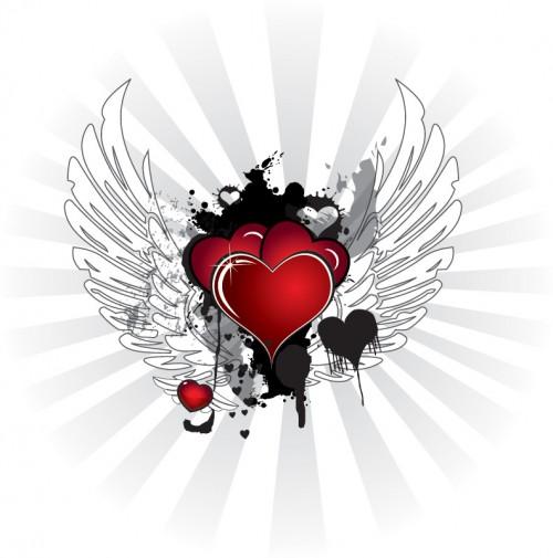 Corazones con alas | Te Amo Web - Imagenes de amor
