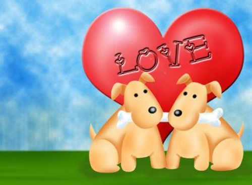 Perritos enamorados e1353021046411 Frases para enamorar a los novios