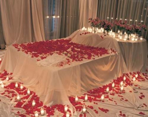 Camas decoradas para San Valentin