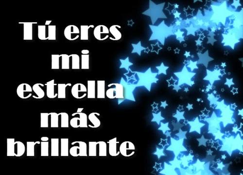 estrellas sobre oscuridad Eres mi estrella