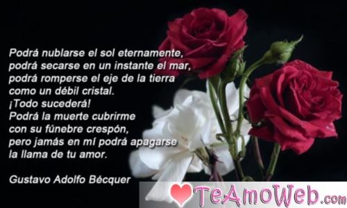 Poema de Gustavo Adolfo Bécquer Amor Eterno