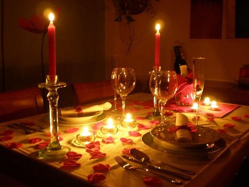 cena romantica Veladas Romanticas
