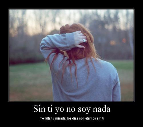 sin ti no soy nada