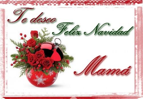 Te deseo una feliz navidad Mama