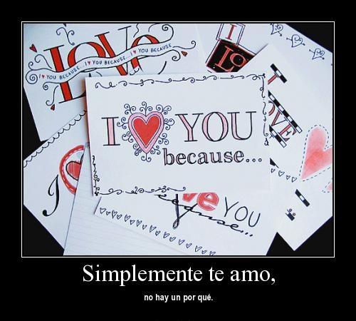 simplemente te amo