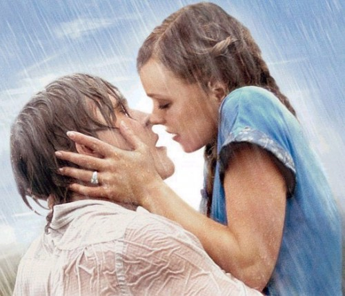 Besos de peliculas romanticas