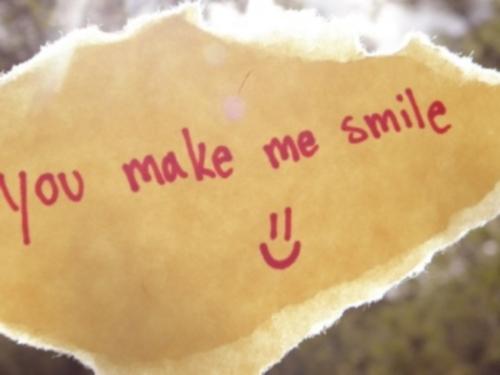 Me haces sonreír