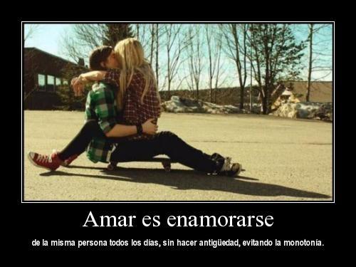 Amar es enamorarse de la misma persona todos los días