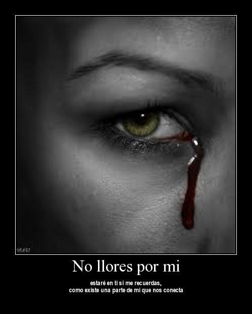 no llores por mi