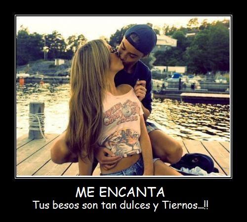 Me encantan tus besos