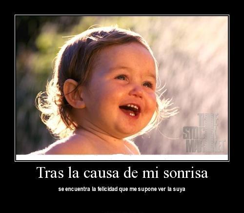 La causa de mi sonrisa