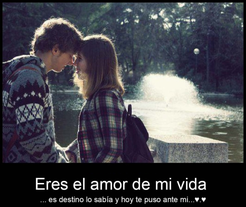 eres el amor de mi vida