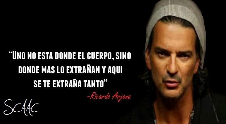 imágenes con letras de canciones de Ricardo Arjona
